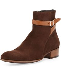 Alexander McQueen Jodhpur Suede Boots - Lyst