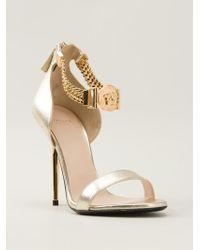 Versace Chain Strap Sandals - Lyst