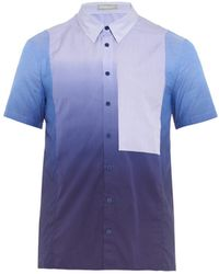 Richard Nicoll - Striped-Panel Shibori-Print Shirt - Lyst