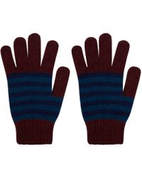 Howlin' By Morrison - Red Afreaka Stripe Lambswool Gloves - Lyst