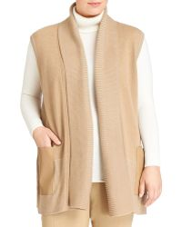 Lafayette 148 New York Pleated Wool Vest W/Bonded Pockets - Lyst