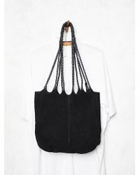 Free People Decades Suede Tote - Lyst