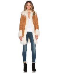 Glamorous | Wool Coat With Faux Fur | Lyst