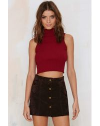 Nasty Gal | Running A Mock Cropped Sweater | Lyst