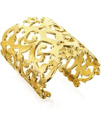Juicy Couture - Gold Openwork Wide Cuff - Lyst