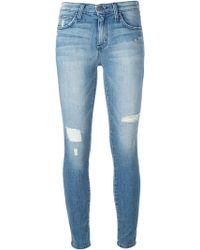 Current/Elliott Distressed Skinny Jeans - Lyst
