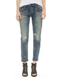 Citizens of Humanity Emerson Slim Fit Boyfriend Ankle Jeans - Rip It Up - Lyst