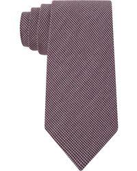 Calvin Klein Berry Shirting Micro-Gingham Slim Tie - Lyst