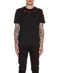 Givenchy Mens Star Neck 74 Sleeve Cotton Tee - Lyst