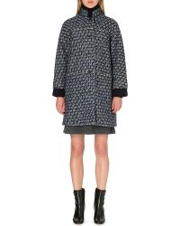 Tory Burch Whitney Tweed Coat Navy - Lyst