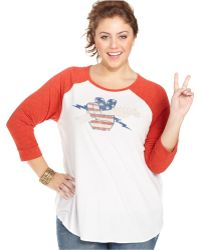 Lucky Brand Jeans Lucky Brand Plus Size Guitar-Print Tee - Lyst