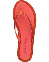 Pink And Pepper - Edgie Flip Flops - Lyst