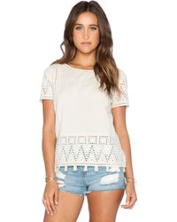 Maison Scotch Embroidered Top - Lyst