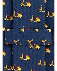 E. Marinella - Vespa Print Silk Tie - Lyst