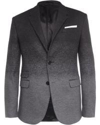 Neil Barrett Grey Slim-fit Dãgradã Wool-blend Suit Jacket - Lyst