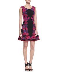 Diane Von Furstenberg Sleeveless Floral Bodyconscious Dress - Lyst