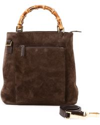 Gucci Dark Brown Two Way Bag - Lyst