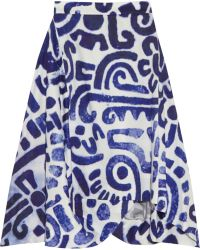 Vivienne Westwood Anglomania - Aztec Asymmetric Printed Cotton Skirt - Lyst