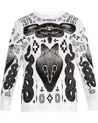 Marcelo Burlon Patagonian Multi-Print Graphic T-Shirt black - Lyst