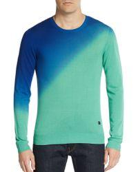 Versace Silk Ombrã© Crewneck Sweater - Lyst