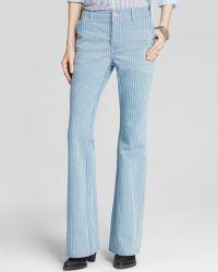 Free People Jeans - Railroad Stripe Flare - Lyst