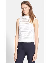 Theory 'Mayleen' Open Knit Sleeveless Sweater - Lyst