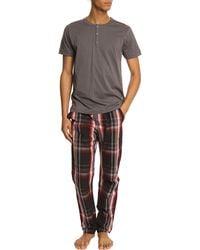 Diesel Worky Boy Grey Checked Pyjama Bottoms - Lyst