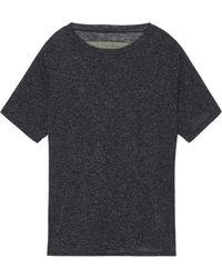Enza Costa Slub Jersey T-Shirt - Lyst