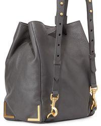 Badgley Mischka - Linda Leather Bucket Backpack - Lyst