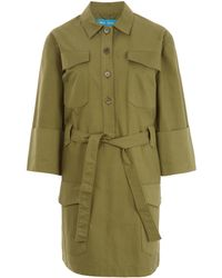 M.i.h Jeans - Khaki Military Style Button Down Iola Shirt Dress - Lyst
