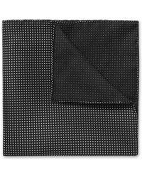 Kilgour - Spot-Print Silk Pocket Square - Lyst