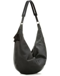 The Row Sling Leather Shoulder Bag - Black