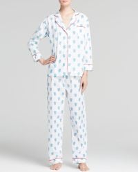 Marigot Collection - Turquoise Sea Fan Long Pajama Set - Lyst