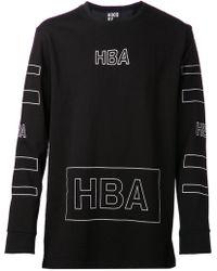 Hood By Air Outline Logo Tshirt - Lyst