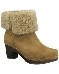 Ugg Amoret Suede Heeled Boots - Lyst