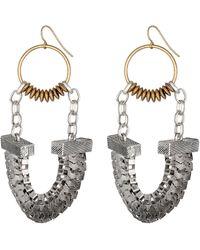 Sam Edelman Girls Club Metallic Chain Fan Earrings - Lyst