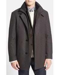 BOSS | 'coxtan' Wool Blend Overcoat | Lyst