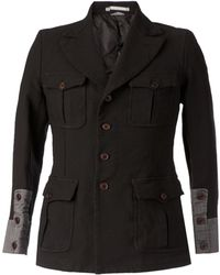Comme des Garçons Buttoned Sleeve Military Jacket - Lyst