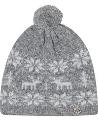 Gucci Festive Fairisle Knitted Hat S-L - Lyst