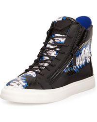 Giuseppe Zanotti Tie-dye Print High-top Sneaker - Lyst