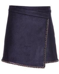 Tory Burch Brenda Wool Skirt - Lyst