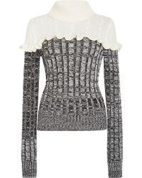 Philosophy Di Lorenzo Serafini | Ruffled Merino Colorblock Sweater | Lyst