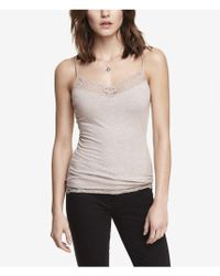 Express Lace Trimmed Cami - Lyst