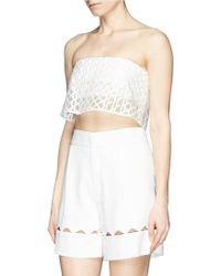 3.1 Phillip Lim Caning Embroidery Organza Bandeau Top - Lyst