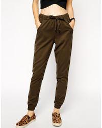 Asos Premium Canvas Cuffed Trousers - Lyst