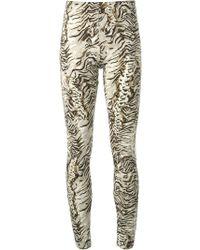 Emanuel Ungaro Animal Print Trousers - Lyst