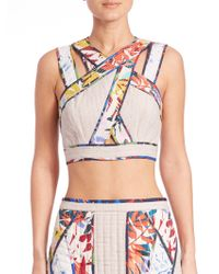 BCBGMAXAZRIA | Alisa Quilted Cropped Top | Lyst
