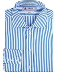 Turnbull & Asser Bengal Stripe Shirt blue - Lyst