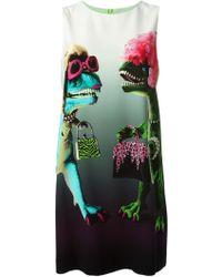 Moschino Cheap & Chic Dinosaur Print Shift Dress - Lyst