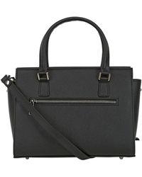 Lancaster Adele Saffiano Leather Top Handle Bag - Black